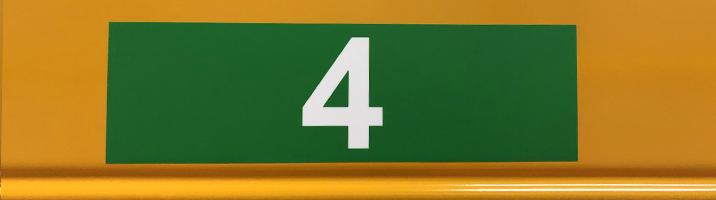ONE2ID magazijnlabels met hoogtekleuren