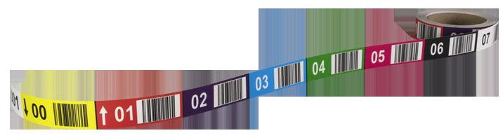 ONE2ID stelling magazijnlabels kleurcodering hoogtekleuren