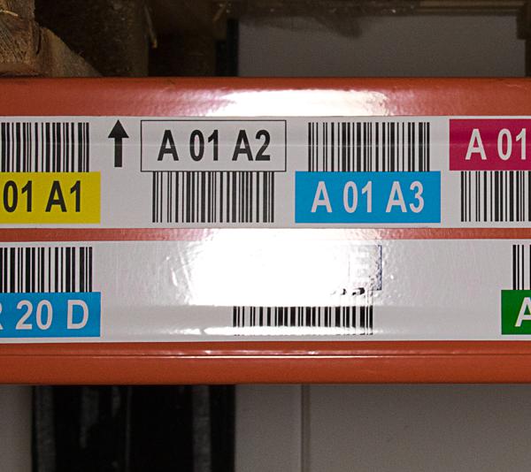 ONE2ID mat laminaat stellinglabels met kleurcodering magazijnlabels