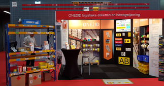 ONE2ID trade fair warehouse and logistics