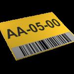 ONE2ID magazijnbord locatiebord met barcode en reflecterend etiket