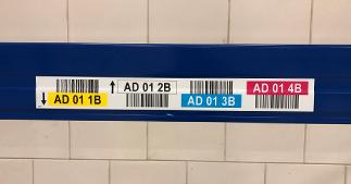 ONE2ID magazijnlabels met kleur