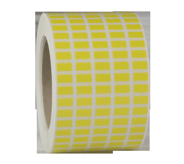 ONE2ID polyester kunststof labels blanco geel