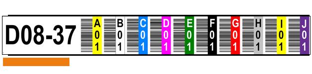 ONE2ID magazijnlabels stellingen bedrukt met kleur en barcode
