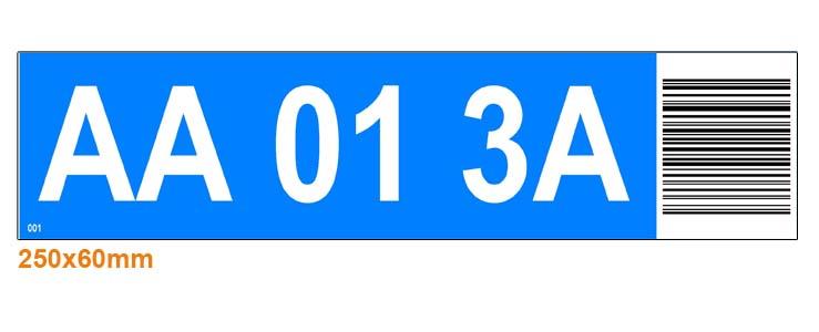 ONE2ID locatielabels magazijn met hoogtekleur en barcode