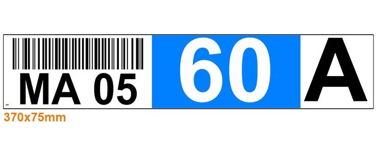 ONE2Id locatielabels met barcode magazijn