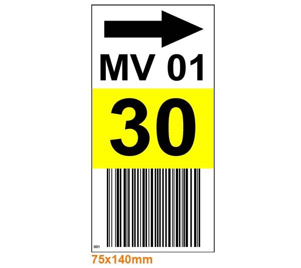 ONE2ID stellingetiketten magazijn barcode labels