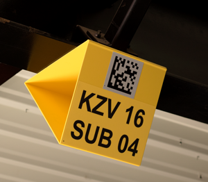 ONE2ID bulk storage sign warehouse scanning