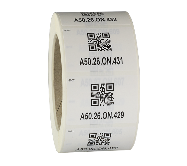 ONE2ID asset tags met barcode