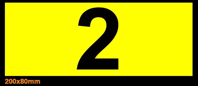ONE2ID locatielabels magazijn hoogtekleur