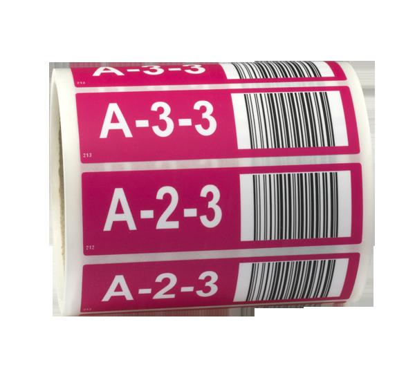 ONE2ID etiketten magazijn hoogtekleuren