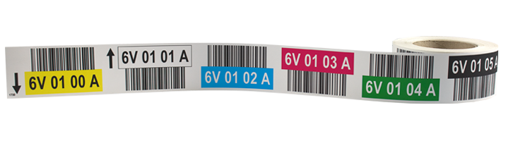 ONE2ID colour-coded pallet racking labels warehouse