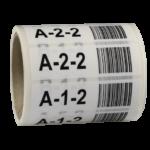 ONE2ID stellinglabels magazijn barcode kleur