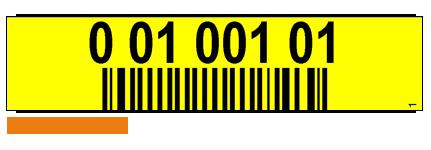ONE2ID stellinglabels geel met barcode