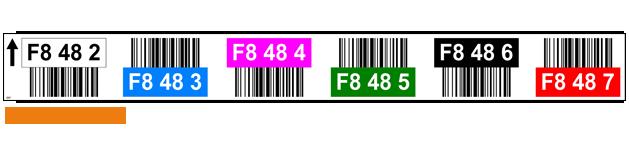 ONE2ID magazijnlabels met barcode en kleur stellinglabels