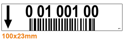 ONE2ID magazijnlabels met barcode picklocaties