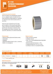 ONE2ID informatie zilver polyester etiketten