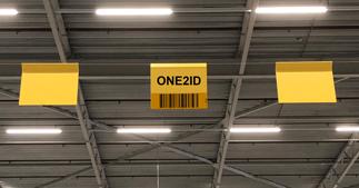 ONE2ID locatieborden magazijn ophangen staaldraad