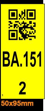 ONE2ID magazijnlabels inrijstelling met datamatrix code