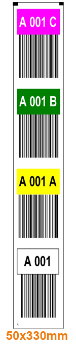 ONE2Id warehouse vertical rack labels