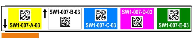 ONE2ID magazijnlabels met kleur en datamatrix barcode