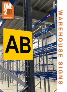 ONE2ID brochure warehouse location signs
