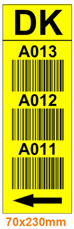 ONE2ID pallet racking warehouse labels