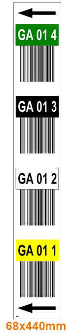 ONE2ID warehouse rack labels