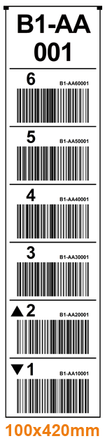 ONE2ID rack labels warehouse
