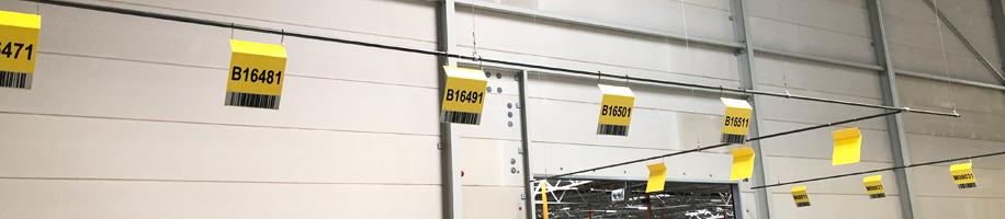 ONE2ID ID-RAIL borden bulklocatie ophangen