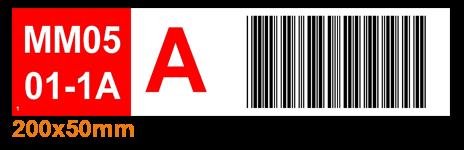 ONE2ID magazijnlabel met kleurcodering en barcode