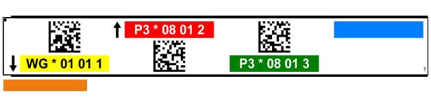 ONE2ID magazijnlabels met kleur en datamatrix QR code