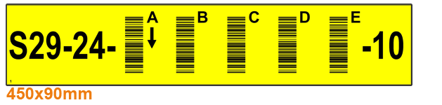 ONE2ID magazijnlabels stelling met barcode