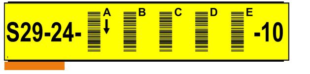 ONE2ID magazijnlabels stelling met barcode