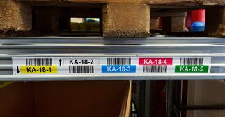 ONE2ID stellinglabels magazijn met kleur en barcode