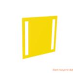ONE2ID magazijnborden bevestigen met dubbelzijdig tape