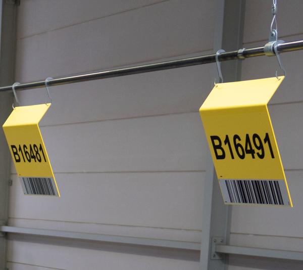 ONE2ID ophangen magazijnborden ID-RAIL