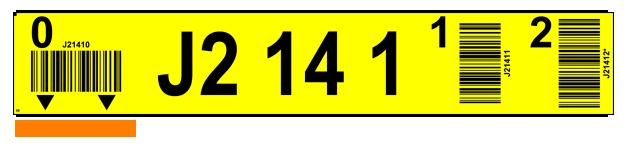 ONE2ID magazijnlabels stellingen met barcode en pijlen