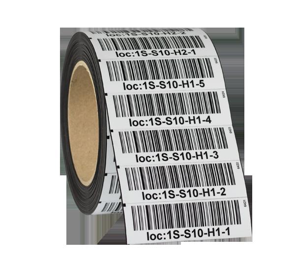 ONE2ID magneet etiketten met barcode magazijn