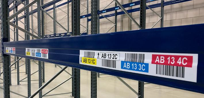 ONE2ID magazijnlabels met barcode en kleur