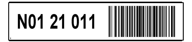 ONE2ID magazijnlabels met streepjescode