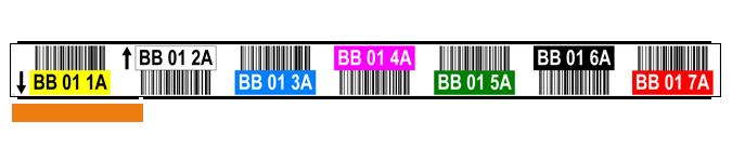 ONE2ID magazijnlabels stellingen met barcode en kleur