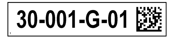 ONE2ID magazijnlabels met 2D code QR code datamatrix code