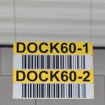 ONE2ID magazijnbord met reflectieve barcode