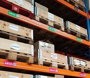 ONE2ID magazijnlabels barcodelabels hoogtekleuren
