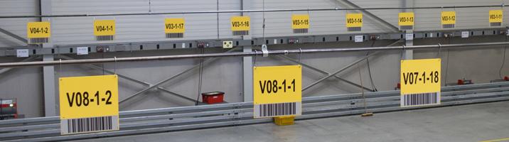 ONE2ID magazijnborden scannen opslag bulklocatie