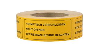 ONE2ID waarschuwingssticker vinyl etiket