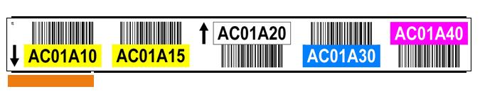 ONE2Id magazijn labels met barcode en kleur
