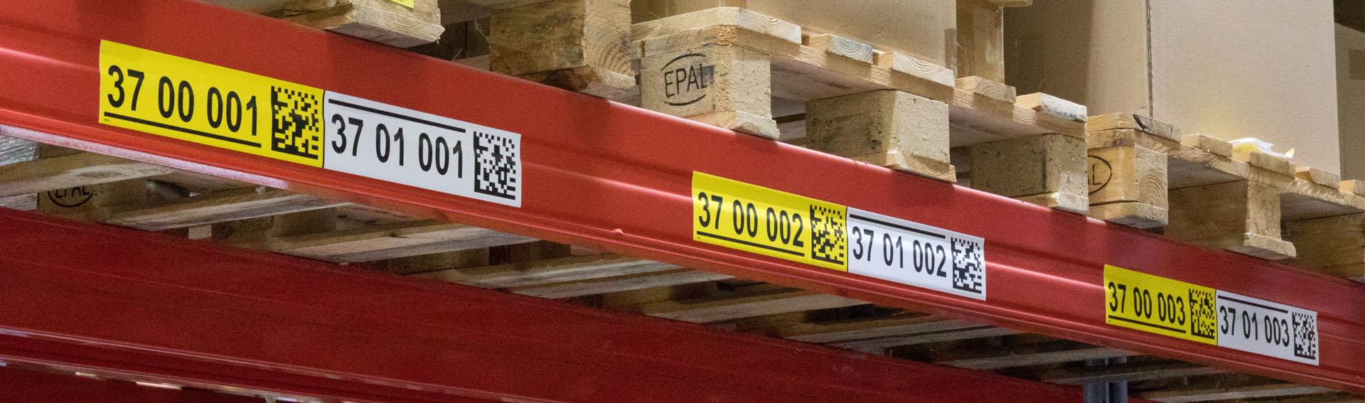 ONE2ID magazijnlabels stellinglabels met barcode