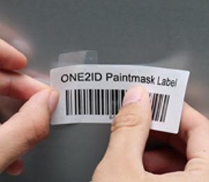 ONE2ID poedercoat paintmask hittebestendig etiket